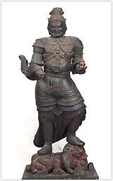 県指定 毘沙門天立像